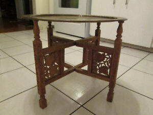 Solid Wood Hand Carved Accent Coffee Table