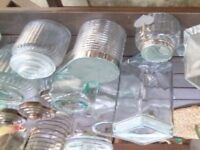 20 glass storage jars.