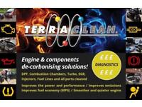 Terraclean Decoke Engine Decarbonising Services. Also DPF & EGR Clean and Diagnostics. Yorkshire