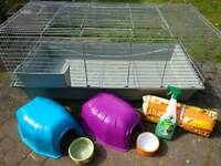 Quick sale wanted!! Rabbit / Guinea pig indoor cage and accessories