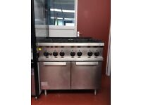 Zanussi Commercial 6 Burner Cooker With Oven (USED)