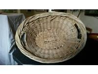 Wicker vintage linen baskets