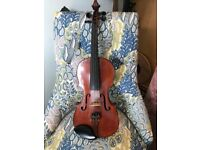 Antique german violin - 100 years old - playable order - suit beginner - full size