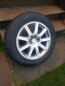 Blizzack winter tires with Chrysler 300 rims