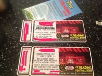 Early entry and weekend camping tickets for Reading festival