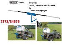 DRAPER EXPERT 60 LITRE BROADCAST QUAD SPOT SPRAYER 12V DC ATV & 2.7M BOOM SPRAYER