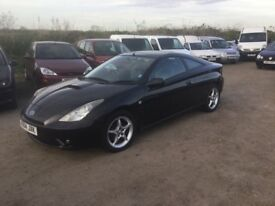 54 regTOYOTA CELICA VVTI SUPERB CONDITION FULL BLACK LEATHER LOADS SERVICE TOYOTA HISTORY 1yrs mot