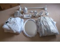HADIDA Blue and White Bathroom Collection /Fine English Bone China