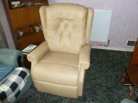 Cosi Chair, Ambassador button back Riser Recliner armchair.