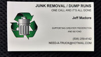 JUNK REMOVAL- DUMP RUNS - GARBAGE REMOVAL