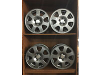 "15"" x4 GENUINE USED AUDI ALLOY WHEELS RE-PAINTED A4 B6"
