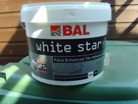 £50 only for 5 x BAL WHITE STAR wall tile adhiseve