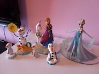 Disney Frozen Elsa, anna and olaf figures limited edition