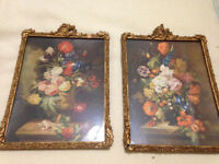 Antique/Vintage Wood Gesso Frames/Pictures/Art/Print, Shabby, Distressed