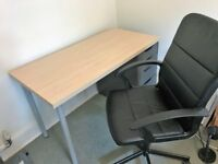 Office desk, and office chair (IKEA)- <6 months old