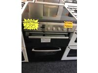 INDESIT 60CM BRAND NEW CEROMIC TOP ELECTRIC COOKER IN SHINY SILIVER