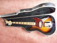 Fender Squier Jazz Bass With Fender Case