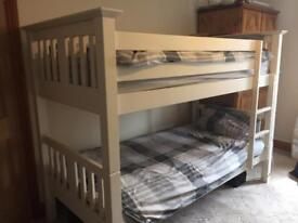 Bunk beds with one mattress