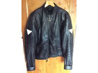 Hein Gericke black leather motorbike jacket Immaculate size uk 42
