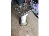 Garden Ornamental Stone Bird Table