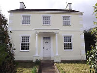Detached 5 bedroomed house full of character, set in half acre, stables, garden parking ,kennels.,