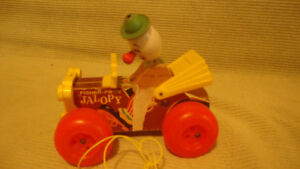 Fisher Price pull along clown for Sale
