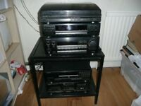 Kenwood Hi Fi Separates Stack of 6 Items Turntable/Graphic/CD/Tuner/Amp/Tape/Remote/Manuels