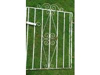 "Solid Wrought Iron Gate. Width 31""/74cm (1.5""/4cm for hinge.) Height 36""/92cm"