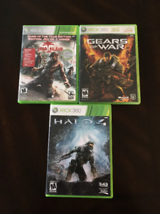 3 XBOX 360 Games (With Case) 5$ each or 15$ for set
