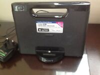 Sony iphone5 docking station with personal audio system