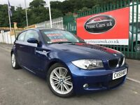 2009 (59 reg) BMW 1 Series 2.0 116d M Sport 3dr Hatchback Turbo Diesel 6 Speed Manual Low Miles