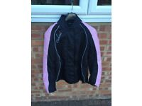 Ladies Duchinni textile motorcycle jacket, size 14