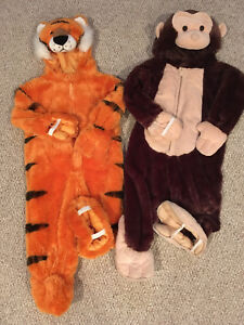 3T Halloween costumes, tiger and monkey