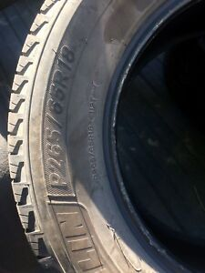 4 Michelin  Energy Saver tires  265/65/18