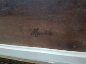 Vintage 1950's Morillo Floral Oil Painting
