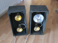 2 WOODEN BOX LIGHTS - SUIT DJ OR BAND