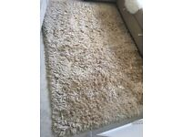 BHS Gold Shaggy Rug