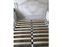 Cream double bed frame