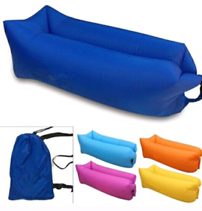 Air SOFa bed. Instant inflate. Lounger camping bed. Hangout bag