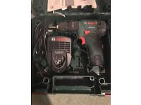 Bosch 10.8v Hammer Drill / Driver, 1 Battery, 1 Charger, In a Case, PSB 10.8 LI-2