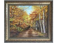 Autumns Afternoon Stroll, Norfolk by Olive Coker (Original Oil Painting)