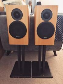 Sony SS-B2ED speakers with Target stands