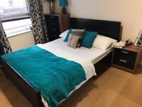Double Bed Frame with Mattress ( Home clearance)