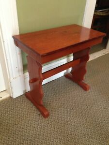 """Hand Crafted Pine Table, 24"""" x 13"""" x 22.5"""""""