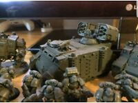 Warhammer 40k space marine army including postage