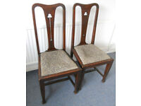 2 Art Nouveau Chairs to Re-Upholster - £25 the pair