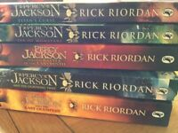 Set of 5 Percy Jackson Paperback Books - all in used condition