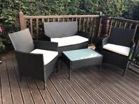 Rattan Garden Furniture - table, chairs, 2 seater