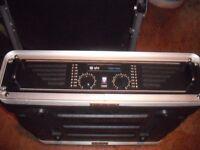 QTX 1000 WATT AMPLIFIER WITH 4 QTX WEDGE MONITOR SPEAKERS