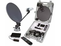 portable satellite system everything you need, brand new unused, would suit motorhome or caravan etc